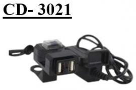Cargador UsB Doble Puerto & Corte CD-3021