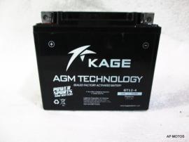 Bateria Kage NK400 - 650 GT12-4  (YTX12B-BS)